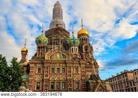 Church Of Savior On Spilled Blood Or Cathedral Of Resurrection Of Christ Is One Of Main Sights Of Sa