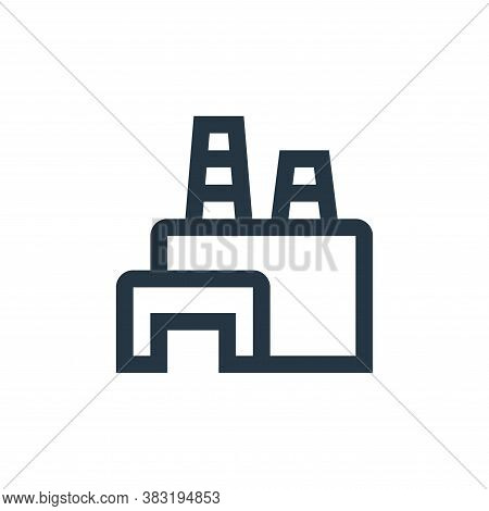 Factory plant icon isolated on white background from industry collection. Factory plant icon trendy