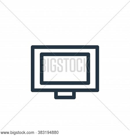 television icon isolated on white background from finance bank collection. television icon trendy an