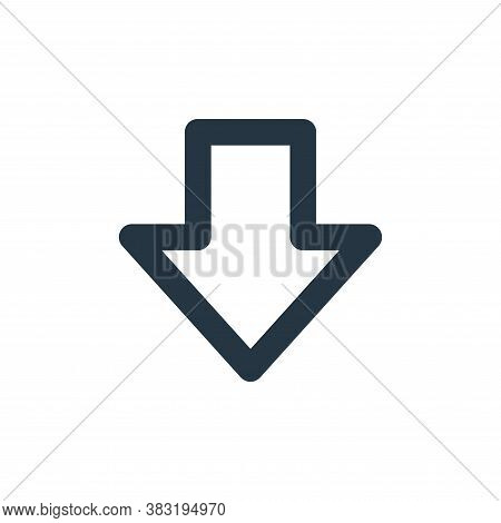 down icon isolated on white background from user interface collection. down icon trendy and modern d