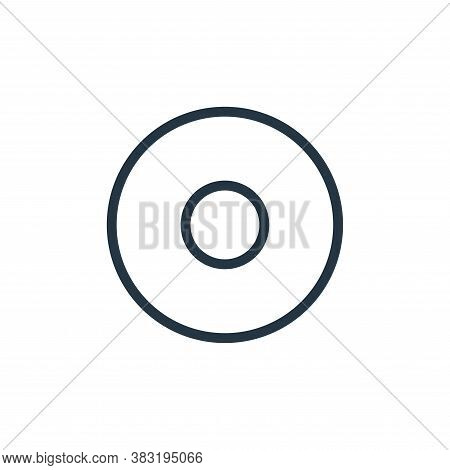 record icon isolated on white background from media player collection. record icon trendy and modern