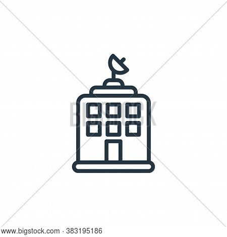 news office icon isolated on white background from news and journal collection. news office icon tre