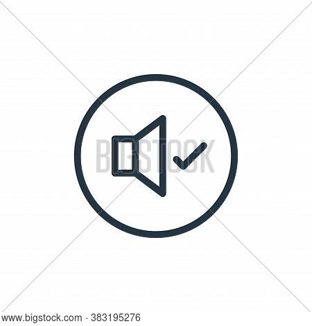 volume icon isolated on white background from media player collection. volume icon trendy and modern