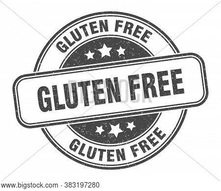 Gluten Free Stamp. Gluten Free Round Grunge Sign. Label