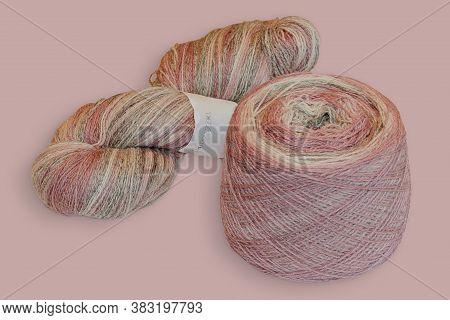 Colored Balls Of Yarn. Rainbow Colors. Yarn For Knitting. Skeins Of Yarn.