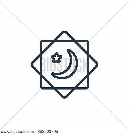 ramadan icon isolated on white background from ramadan collection. ramadan icon trendy and modern ra