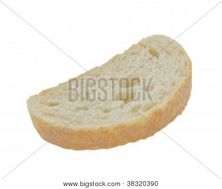 Slice Of Bread, Isolated On White