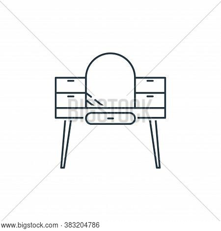dressing table icon isolated on white background from household collection. dressing table icon tren