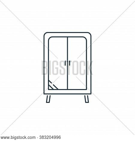closet icon isolated on white background from household collection. closet icon trendy and modern cl