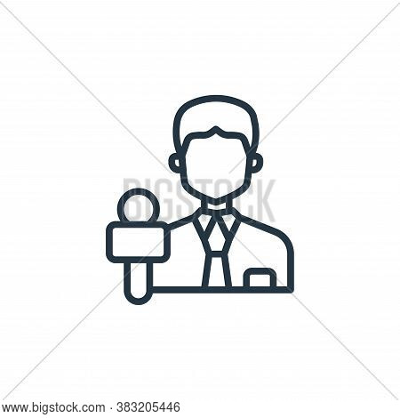 journalist icon isolated on white background from news and journal collection. journalist icon trend