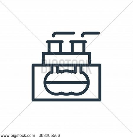 geothermal icon isolated on white background from ecology line collection. geothermal icon trendy an