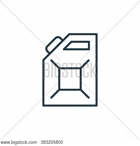 jerrycan icon isolated on white background from oil industry collection. jerrycan icon trendy and mo