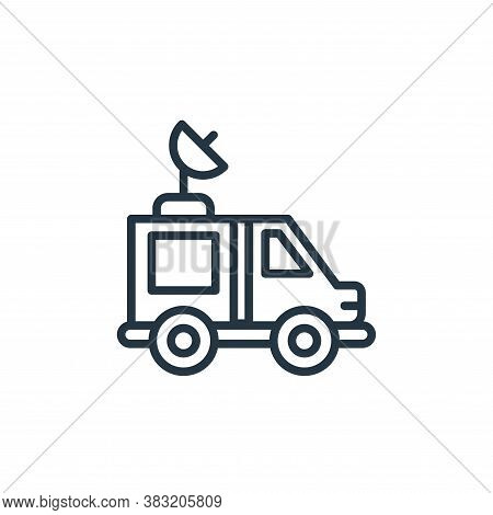 van icon isolated on white background from news and journal collection. van icon trendy and modern v