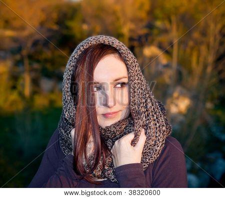 Woman Portrait In Autumn
