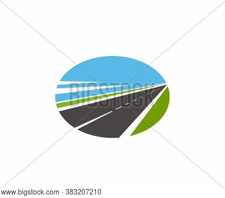 Road Pathway And Highway Icons, Vector Path Route Drives, Vector Sign. Road Construction, Transport