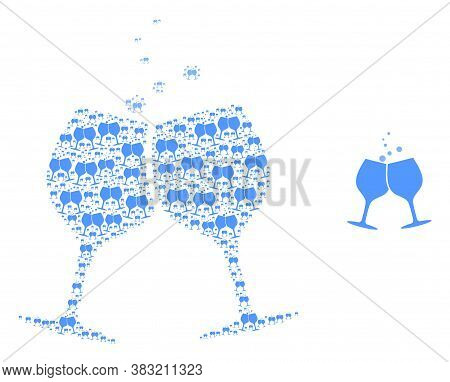 Vector Alcohol Glasses Cheers Collage Is Done Of Random Recursive Alcohol Glasses Cheers Parts. Recu