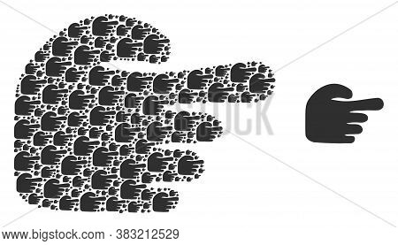 Vector Index Finger Collage Is Composed Of Repeating Recursive Index Finger Elements. Recursive Coll