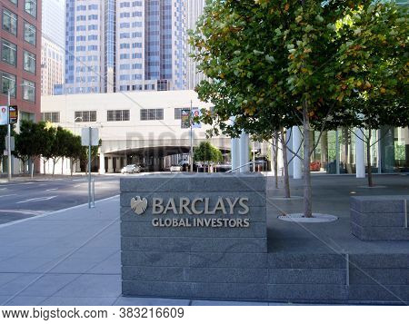 San Francisco - August 30, 2008: Barclay Global Investors Sign On Building.  Bgi Began Its Existence
