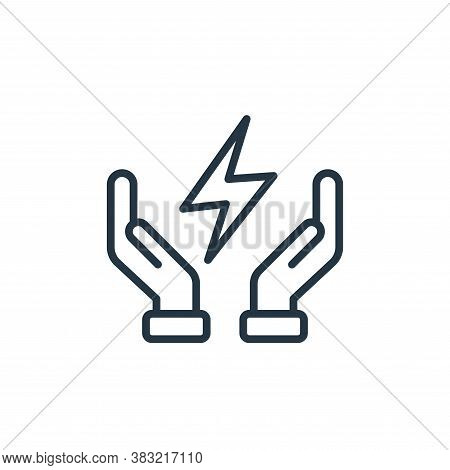 save energy icon isolated on white background from ecology collection. save energy icon trendy and m