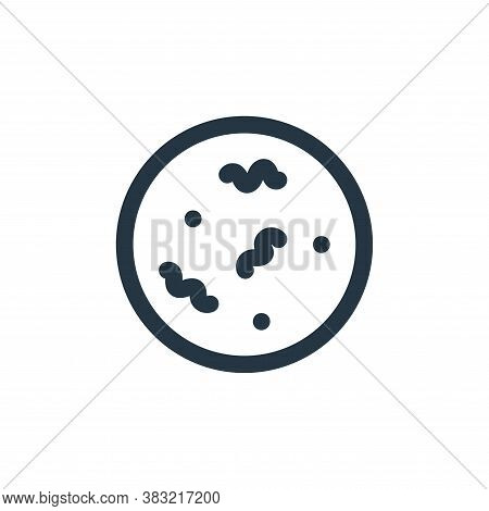 bacteria icon isolated on white background from science collection. bacteria icon trendy and modern