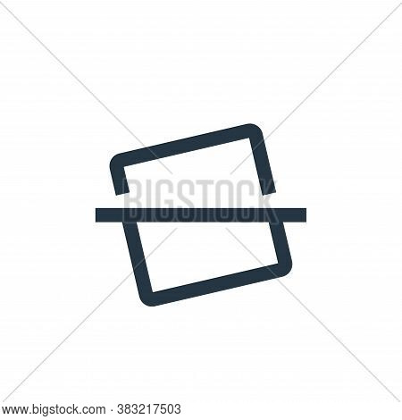 horizontal line icon isolated on white background from photography collection. horizontal line icon