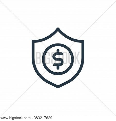 financial icon isolated on white background from ecommerce shopping collection. financial icon trend