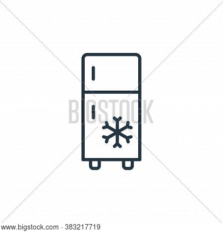 fridge icon isolated on white background from kitchen collection. fridge icon trendy and modern frid
