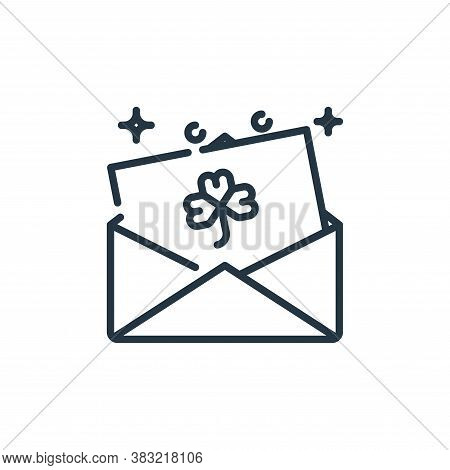 email icon isolated on white background from st patricks day collection. email icon trendy and moder