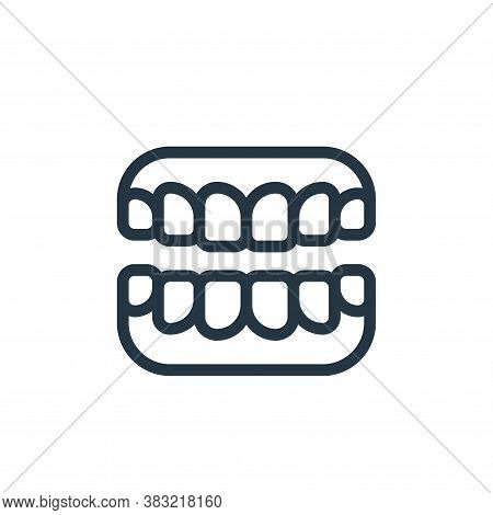 dentures icon isolated on white background from old age collection. dentures icon trendy and modern