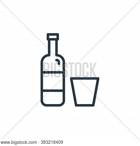 bottle icon isolated on white background from kitchen collection. bottle icon trendy and modern bott