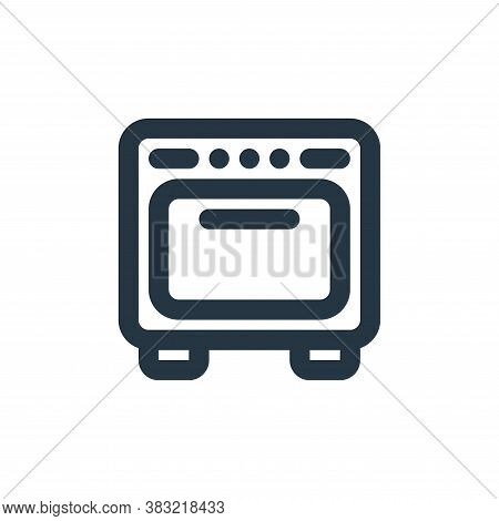 oven icon isolated on white background from kitchen collection. oven icon trendy and modern oven sym