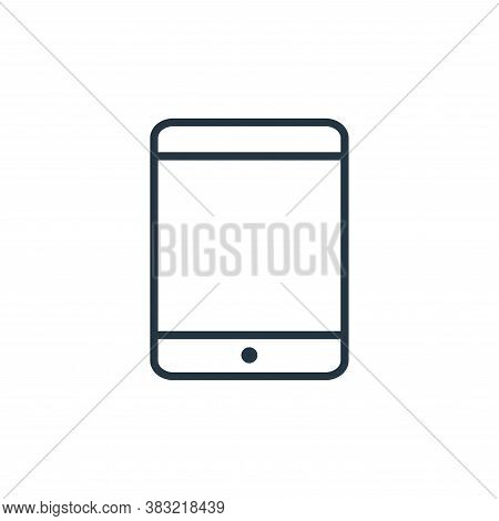 tablet icon isolated on white background from smart devices collection. tablet icon trendy and moder