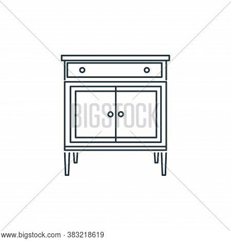 cupboard icon isolated on white background from household collection. cupboard icon trendy and moder