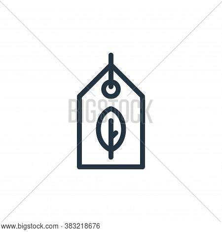 eco tag icon isolated on white background from ecology line collection. eco tag icon trendy and mode