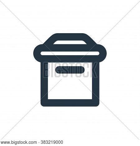 mailbox icon isolated on white background from email collection. mailbox icon trendy and modern mail
