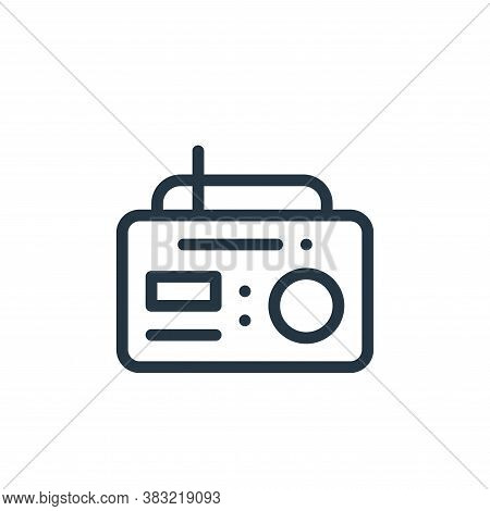 radio icon isolated on white background from old age collection. radio icon trendy and modern radio