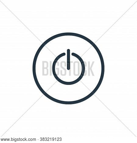 power icon isolated on white background from media player collection. power icon trendy and modern p