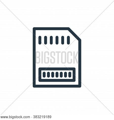 memory card icon isolated on white background from marketing and entertainment collection. memory ca