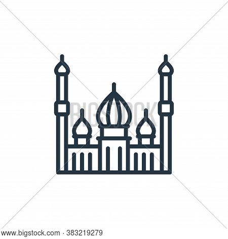 mosque icon isolated on white background from ramadan collection. mosque icon trendy and modern mosq