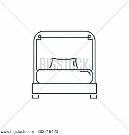 bed icon isolated on white background from household collection. bed icon trendy and modern bed symb