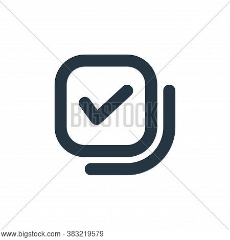 checkbox icon isolated on white background from email collection. checkbox icon trendy and modern ch