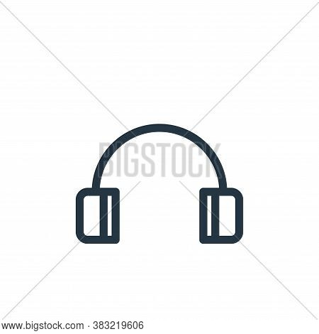 headphones icon isolated on white background from marketing and entertainment collection. headphones