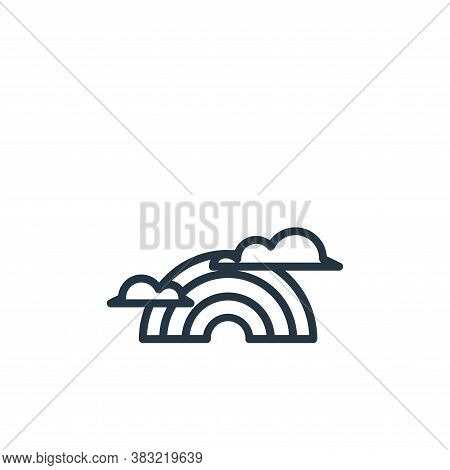 rainbow icon isolated on white background from spring collection. rainbow icon trendy and modern rai
