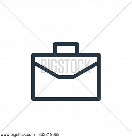 briefcase icon isolated on white background from finance bank collection. briefcase icon trendy and