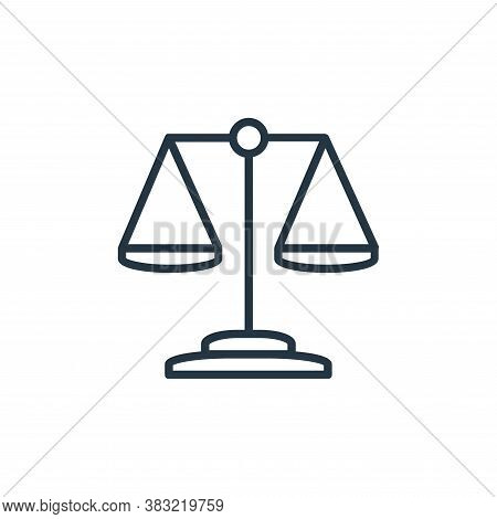 justice scale icon isolated on white background from finance collection. justice scale icon trendy a