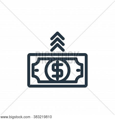 increase icon isolated on white background from shopping collection. increase icon trendy and modern