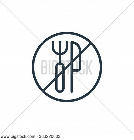 fasting icon isolated on white background from ramadan collection. fasting icon trendy and modern fa