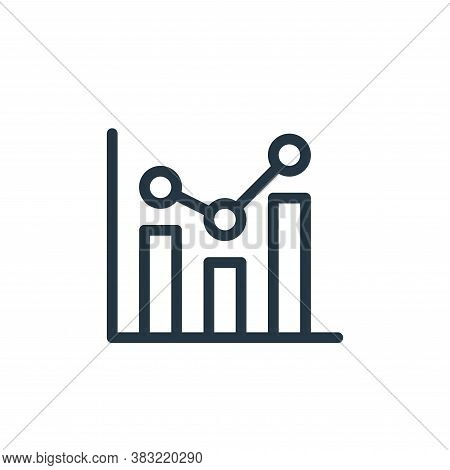 statistics icon isolated on white background from ecommerce shopping collection. statistics icon tre