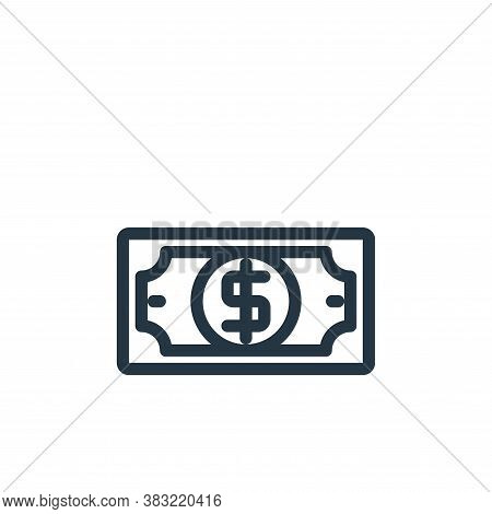 dollars icon isolated on white background from shopping collection. dollars icon trendy and modern d