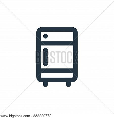 refrigerator icon isolated on white background from kitchen collection. refrigerator icon trendy and